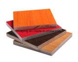 Madera contrachapada de madera de la melamina del color con la mejor calidad