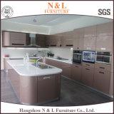 Gabinete de cozinha elevado moderno da laca do MDF do lustro de N&L