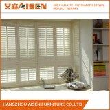 Seguridad de la ventana de madera blanco moderno el obturador de plantación procedentes de China