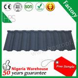 Toiture en aluminium enduite de fibre de verre de tuile de toit de tuiles de toit en métal de pierre de matériau de construction de Guangzhou