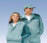 ESDの衣服のクリーンルームは帯電防止作業ユニフォームに着せる