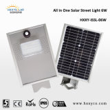 6W Outdoor Lights Solar Integrated Motion Sensor Solar LED Street Light Lampara Solar 정원 Light