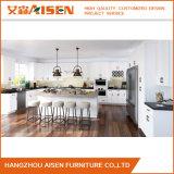 顧客用L形の固定白く光沢度の高い食器棚