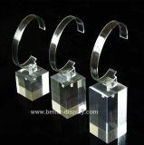Présentoir acrylique fait sur commande de montre avec le clip de C
