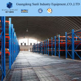 선반은 ISO/SGS를 가진 창고를 위한 강철 위원회 중이층을 지원했다