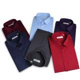 Het duidelijke Witte Trendy Geschikte Overhemd Van uitstekende kwaliteit van de Koker van de Kleding/van het Bureau Lange voor de Vierkante Kraag van Mensen