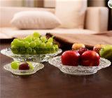 최신 인기 상품 음식 급료 부조 식기를 위한 투명한 명확한 유리제 과일 격판덮개