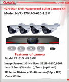 960p NVR Kit con Waterproof Cameras