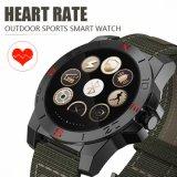 Lujo N10 impermeable reloj inteligente con monitor de ritmo cardíaco y brújula