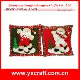 Coperchio del cuscino di manovella della decorazione della casa del pupazzo di neve della decorazione di natale (ZY13F108-2)
