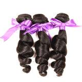ブラジルのバージンの毛ブラジルの人間の毛髪の織り方まっすぐな3束は7Aの加工されていないバージンの毛のブラジルの直毛を束ねる