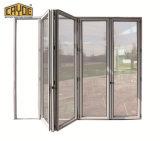 Het aangepaste Gemaakte Dubbele Verglaasde Balkon die van het Glas Lowe Deur/Deur Bifolding vouwen