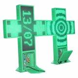 visualización de LED de la cruz de la farmacia de 600X600 P10 con precio excelente