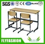 Bon marché de l'école en bois Meubles de bureau et chaise étudiant double (SF-45D)