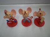 최신 주문 연약한 PVC 소형 마우스 동물 액션 인형