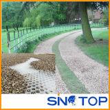 Nattes d'allée de nid d'abeilles, allée en plastique de réseau, couvre-tapis de confinement de gravier