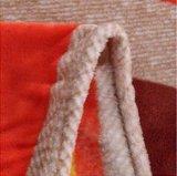 접힌 가장자리를 가진 최신 판매 다채로운 줄무늬 Flannel 담요