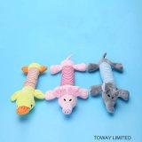 Qualité retentissant à peluche les accessoires animaux de jeu de crabot de jouets d'animal familier