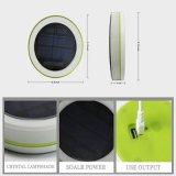 이동 전화 충전기를 가진 휴대용 옥외 여행 사용 RGB 원격 제어 태양 LED 부표등 태양 야영 빛
