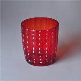 赤いカラー無地の赤ワインガラス