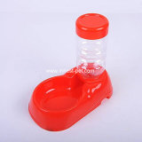 Ciotola e bottiglia beventi dell'acqua del cane dei prodotti dell'animale domestico del commestibile