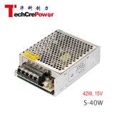 S-40-15 세륨 증명서 좋은 품질, 15V DC 변압기 42W 스위치 전력 공급에 220V AC