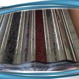 Покрасьте панель стальной материальной стены стальную гофрировано