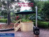 DIYの4-6人のための木の屋外の鉱泉の温水浴槽のヒマラヤスギの温水浴槽