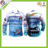 Longues chemises 100% de pêche de tournoi de chemise de polyester