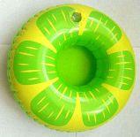 Portée gonflable de cuvette de boissons de PVC de modèle de beignet pour l'usager de syndicat de prix ferme