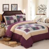 Комплект 100% постельных принадлежностей Washable хлопка шотландки Quilts пурпуровый