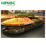 Klassischer Oval MDF-Supermarkt-Gemüsebildschirmanzeige-Zahnstange