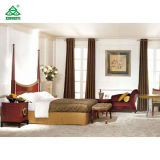 OEMの休日のホテルのマホガニーの仕上げを用いる従来の寝室の家具