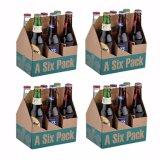 Cartone del contenitore di birra delle 6 bottiglie con il commercio all'ingrosso della maniglia
