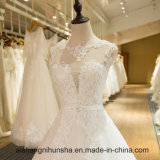 Платье венчания высокого качества с флористическим шнурком Appliques низко назад
