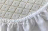 Pista de colchón ajustada acolchada almohadilla impermeable del protector del colchón de ropa de cama del hotel
