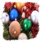 De kleine Hoogste Verf van de Steen van de Rol van de Bal van Kerstmis van de Diameter