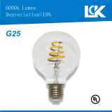Nueva bombilla espiral del filamento LED de CRI90 8W 800lm G25