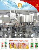 Bebidas del lactobacilo del jugo de la leche de la botella del HDPE de la taza del papel de aluminio que llenan la empaquetadora