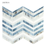 Mosaico lineare blu di vetro macchiato per la priorità bassa della TV