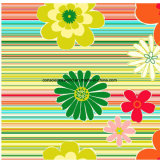 100%Polyester хризантема Pigment&Disperse напечатала ткань для комплекта постельных принадлежностей