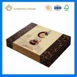 Rectángulo de empaquetado de papel impreso Cmyk modificado para requisitos particulares del té del regalo con la tapa
