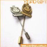 Personnaliser les clips de relation étroite en alliage de zinc de placage à l'or de cadeaux de souvenir et le Pin de Lape pour les hommes (YB-HD-07)