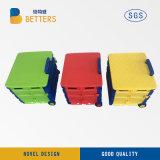 Carretilla plástica colorida de la cesta de la muestra libre