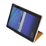 """10.1 """" Huawei Mediapad M3 라이트를 위한 2절판 이론을 접히는 PU 가죽"""