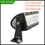 Barre d'éclairage à LED CREE incurvée refoulées pour conduite hors route