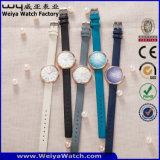 Orologio delle signore del quarzo della cinghia di cuoio di modo del ODM (Wy-126E)