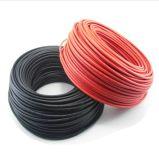 câble d'alimentation de TUV et d'UL d'homologation noire ou rouge de câble solaire de 2.5mm2 14AWG pour Mc4/Mc3