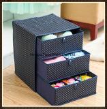 Tres capas de rectángulo de almacenaje del cajón