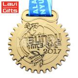 Het goedkope Lint van de Medaille van de Toekenning van de Sport van het Badminton van het Email van het Metaal van de Douane Zachte